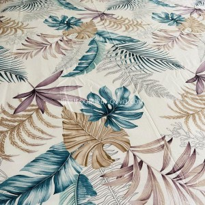 Oil painting style floral cotton bed sheet printing right angle bed sheet naked sleeping single bed sheet-single product (flower and leaf Qingqing)
