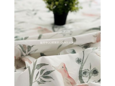 Choose a four-piece set of bedding suitable for your own fabric