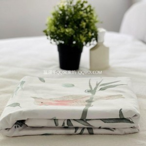 Export Day Single Original Single Cotton Quilt Cover Single Bed Sheet (Gray Bottom-Vertical Pattern)