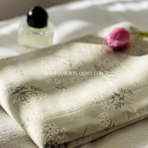 Net red small fresh garden floral cotton duvet cover simple right angle single double bed duvet cover-single product (light khaki floral)