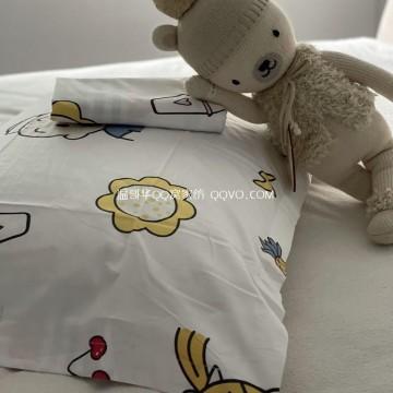 Cartoon cotton pillowcase Nordic style pillowcase single double cute 100% cotton pillowcase-two packs (childlike)