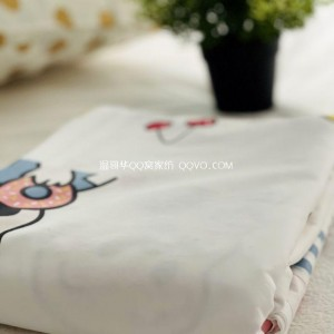 Cartoon cotton quilt cover Nordic style quilt cover single double cute 100% cotton quilt cover-single product (childlike)