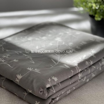 Pure Cotton Encrypted Combed Twill Quilt Cover Four Seasons Universal Single & Double Full Cotton Quilt Cover-Single Product (Qingfeng Lianying)