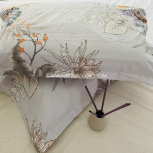 High-quality European-style retro nostalgic flower sea gentle pillowcase pure cotton skin-attached pillowcase-two packs (meaning oriental)