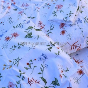 American elegant and fresh pastoral style floral cotton quilt cover Four seasons universal quilt cover-single product (dream garden)