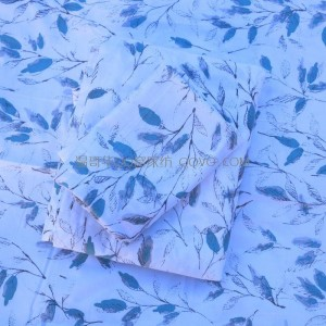 100% cotton twill bed sheet, full cotton sheet, right angle sheet-single piece (Love flower branch)