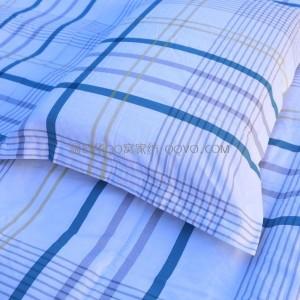 New Japanese Twill Jacquard Cotton Pillowcase Four Seasons Universal Pillowcase-Two Packs (White Background-Striped Check)