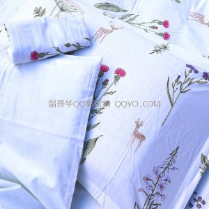 Girl small fresh cotton plant flower printing pillowcase pure cotton four seasons universal single double bed pillowcase-Two outfits (multiple flowers)