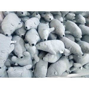 Exported to Japan the original ice silk cold polar bear toy cute doll doll cool pillow lunch break pillow(blue)