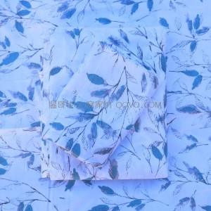 Minimalist ins style simple white leaves fresh literary quilt cover-single piece (love flower branch)