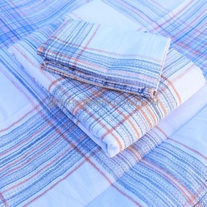 New Japanese-style twill jacquard cotton sheets, right-angle sheets, skin-friendly nude sleeping sheets-single product (white background-striped pattern)