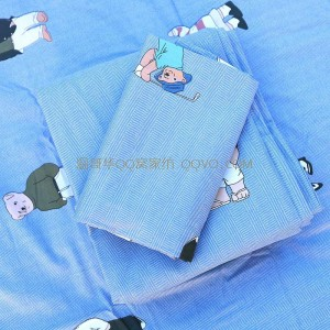 Skin-friendly cotton ins style cute bear European-style right-angle bed 100% cotton quilt single nude sleeping single bedding-single product (Winnie the Pooh)