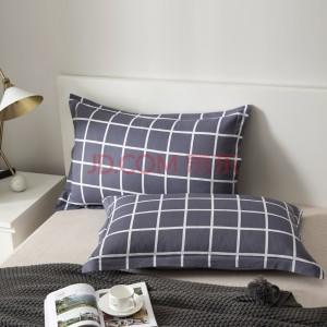 北极绒 枕套家纺 纯棉枕头套 高密度斜纹全棉枕芯套2只装 光影 74x48cm