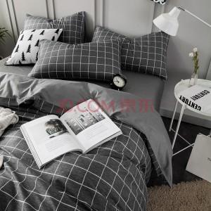 南极人 套件家纺 纯棉四件套 全棉床上用品床单被套 格调 1.8米/2米床 220*240cm