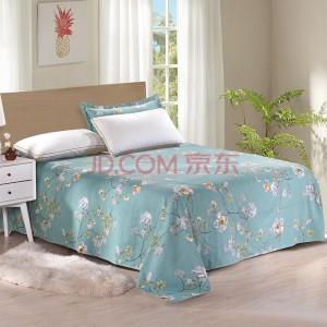 艾薇 床单家纺 全棉斜纹印花床单 纯棉床单 单件 青馨花园 1.5米/1.8米床 230*250cm