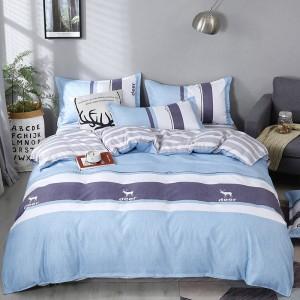 京城派 ins风北欧床上四件套1.8米双人少女网红床单被套简约1.8m 床上用品床单被套三件套1.5m