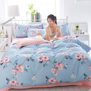 泰念(Tai nian) 2020新款小清新芦荟棉四件套宿舍1.5/1.8m床单被套三件套床上用品
