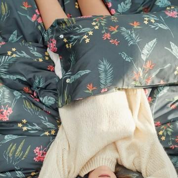 美式60支长绒棉贡缎四件套全棉纯棉花卉系列印花床单被套床上用品